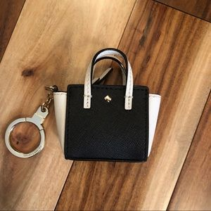 Kate Spade Mini Hayden Bag Keychain Fob NWT